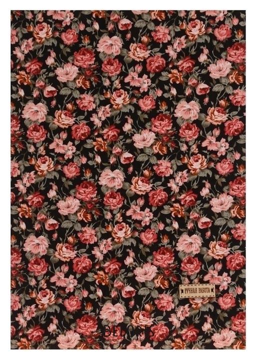 Ткань на клеевой основе «Яркий сад», 21 х 30 см Арт узор