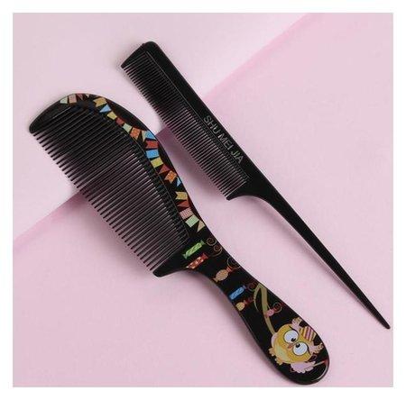 Набор расчёсок, 2 предмета, цвет чёрный  Queen Fair