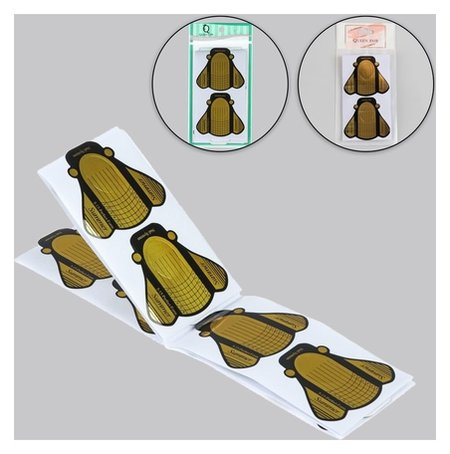 Формы для ногтей «Пчёлки», 20 шт, цвет золотистый  Queen Fair
