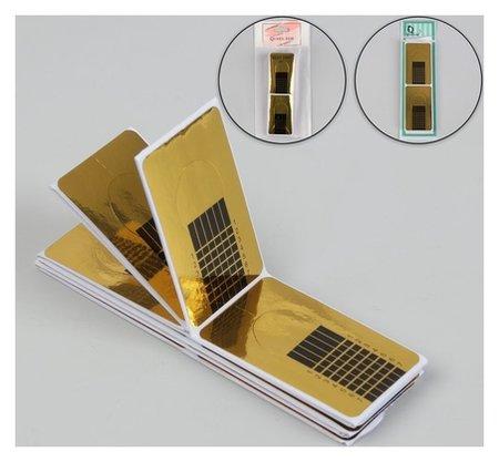 Формы для ногтей узкие, 50 шт, цвет золотистый  Queen Fair