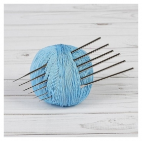 Набор крючков для вязания, d = 0,5-1 мм, 12 см, 6 шт