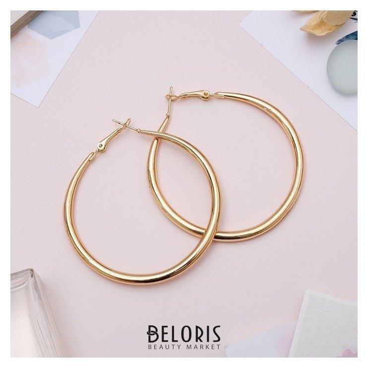 Серьги-кольца Дискотека лёгкие, d=6, цвет золото Queen fair