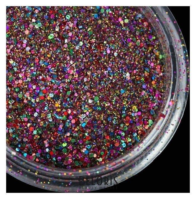 Втирка-блёстки для ногтей, цвет «хамелеон» Queen fair