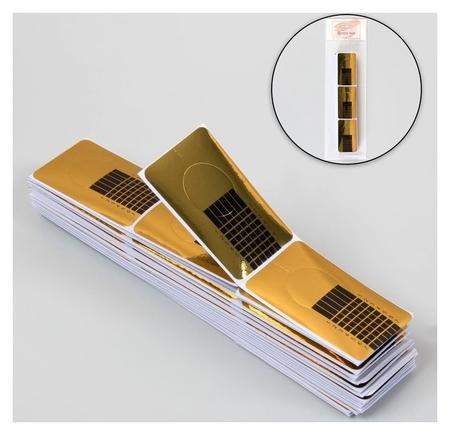 Формы для ногтей узкие, 100 шт, цвет золотистый  Queen Fair