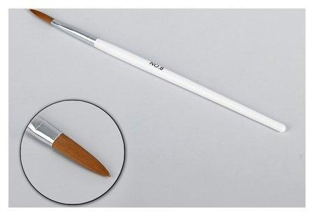 Кисть для наращивания и дизайна ногтей «Лепесток», 19,5 см, цвет белый  Queen Fair
