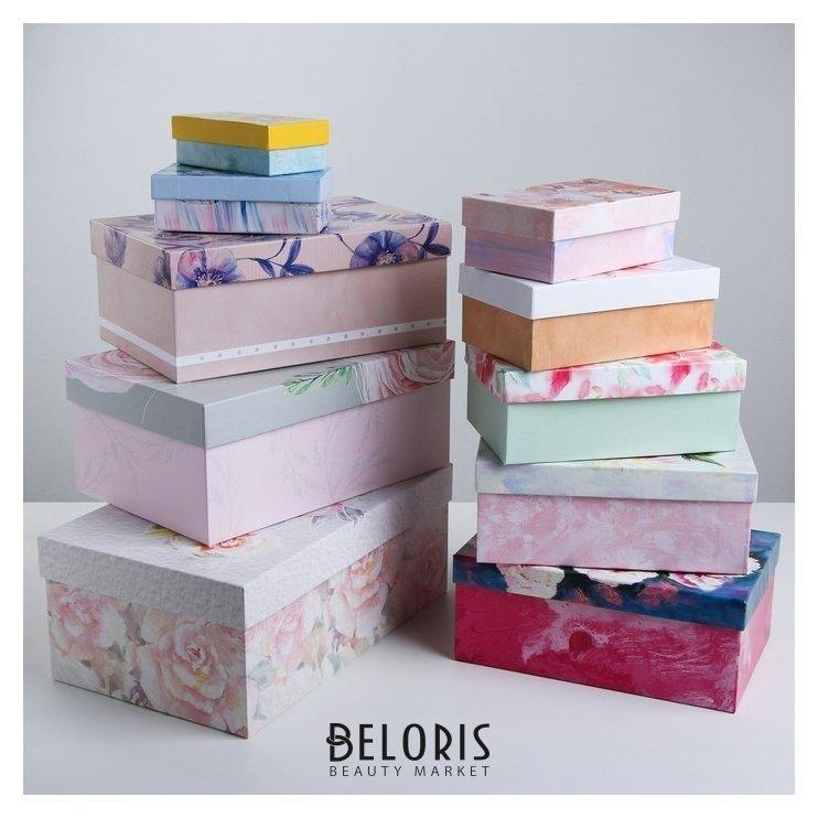 Набор подарочных коробок 10 в 1 «Цветы», 12 х 7 х 4 - 32,5 х 20 х 12,5 см Абстракция Дарите счастье