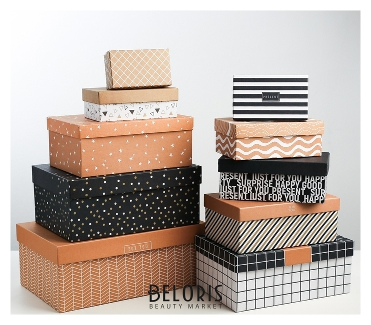 Набор подарочных коробок 10 в 1 «Универсальный», 12.5 × 7 - 30.5 × 25.5 × 16.5 Дарите счастье