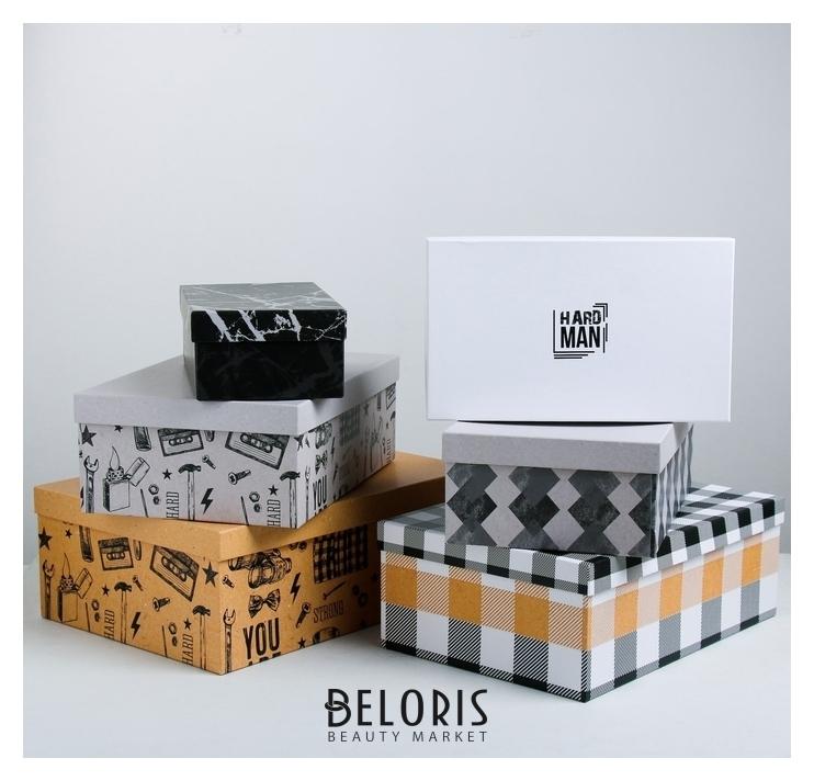 Набор подарочных коробок 6 в 1 For man, 22.5 × 12.5 × 7.5‒34.5 × 25 × 12.5 см Дарите счастье