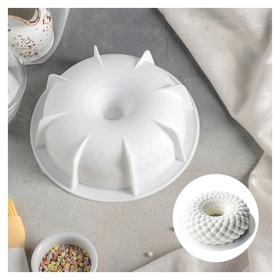 Форма для муссовых десертов и выпечки «Снежная гора», 18,8×5,5 см, цвет белый  Доляна