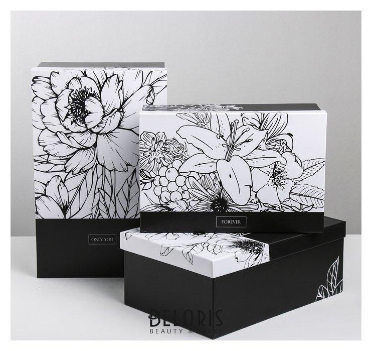 Набор подарочных коробок 3 в 1 «Чёрно-белый», 24.5 × 14.5 × 8 - 29.5 × 19.5 × 10 см Дарите счастье