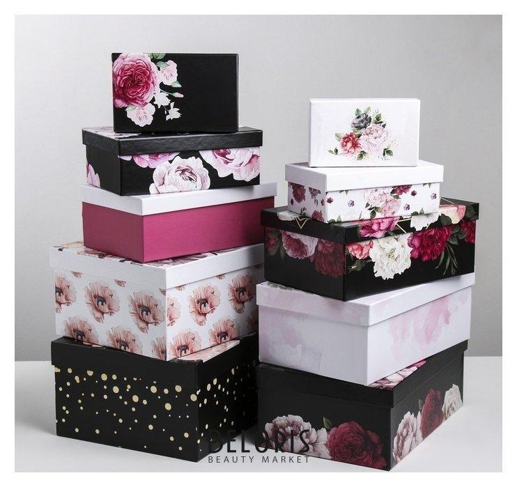 Набор подарочных коробок 10 в 1 «Цветочный вальс», 12 × 7 × 4 - 32.5 × 20 × 12.5 см Дарите счастье