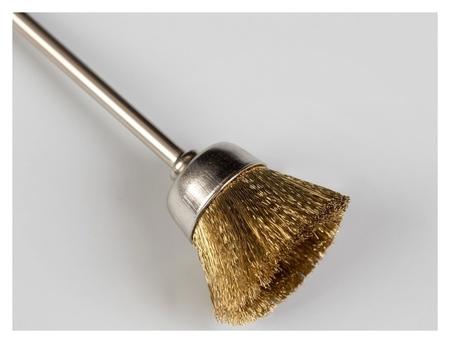 Щётка - браш для чистки фрез, медная  Queen Fair