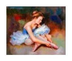 Холст с красками по номерам Милая балерина  Рыжий кот