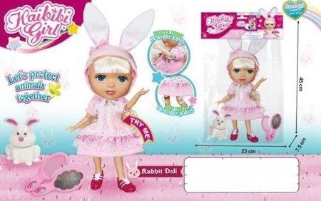 Кукла-зайчик музыкальная с гибкими суставами  Kaibibi