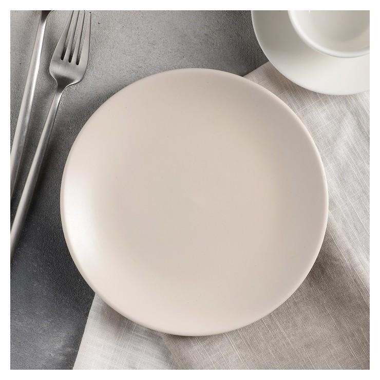 Тарелка десертная «Пастель», D=19 см, цвет крем-брюле  Доляна
