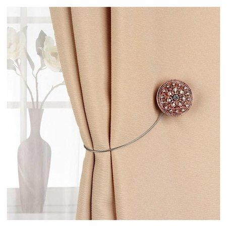 Подхват для штор «Винтаж», D = 4 см, цвет медный  Арт узор