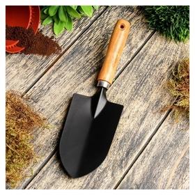 Совок посадочный, длина 27 см, ширина 7 см, деревянная ручка  Greengo