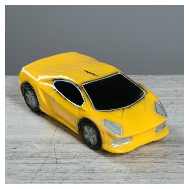 """Копилка """"Машина мечты"""", глянец, цвет жёлтый, 8 см  Керамика ручной работы"""
