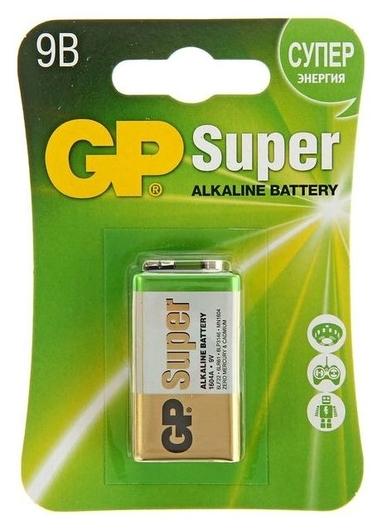 Батарейка алкалиновая GP Super, 6lr61 (6lf22, Mn1604)-1bl, 9В, крона, блистер, 1 шт.  GР