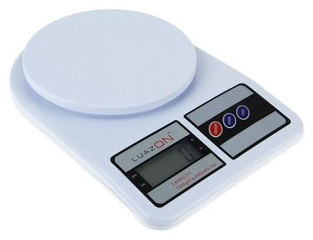 Весы кухонные Luazon Lvk-704, электронные, до 7 кг, белые  LuazON