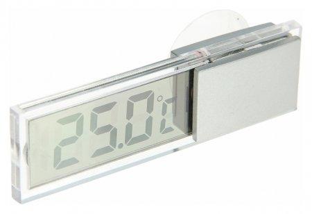 Термометр электронный на присоске прозрачный на батарейках, пластик  LuazON