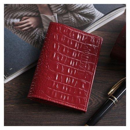Обложка для паспорта, цвет красный  Cayman