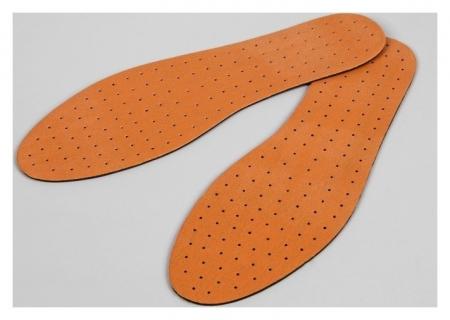 Стельки для обуви, универсальные, дышащие, 36-47 р-р, пара, цвет коричневый