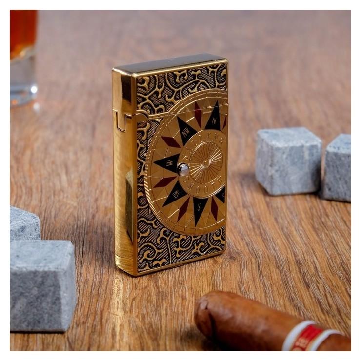 """Зажигалка """"Компас"""" в картонной коробке, газ, 7х11 см  Командор"""