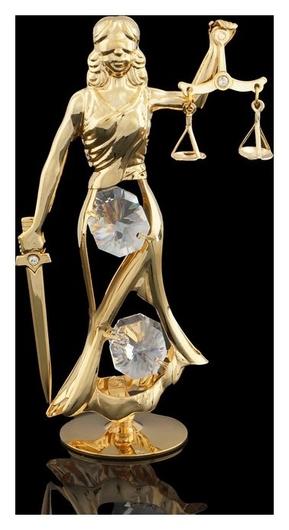 Сувенир «Фемида», с кристаллами сваровски, 10,5 см Swarovski
