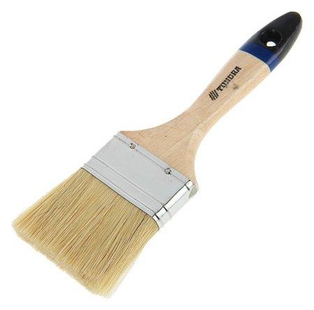 """Кисть плоская Tundra, натуральная щетина, деревянная ручка, 2.5"""", 63 мм  Tundra"""