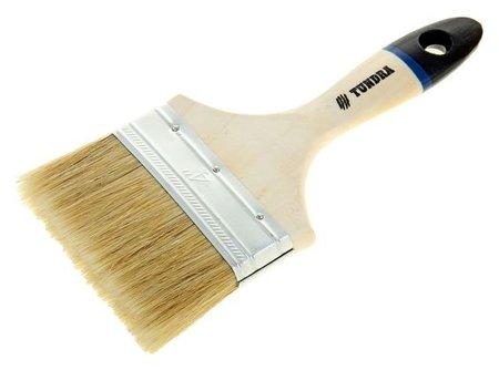 """Кисть плоская Tundra, натуральная щетина, деревянная ручка, 4"""", 100 мм  Tundra"""