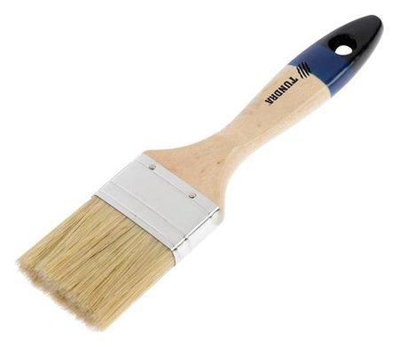 """Кисть плоская Tundra, натуральная щетина, деревянная ручка, 2"""", 50 мм  Tundra"""