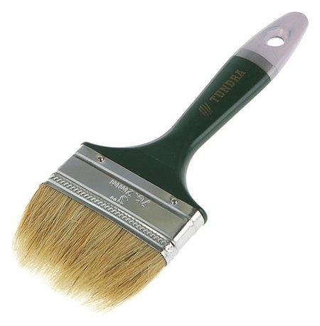 """Кисть плоская Tundra, натуральная щетина, пластиковая ручка, 3"""", 75 мм  Tundra"""