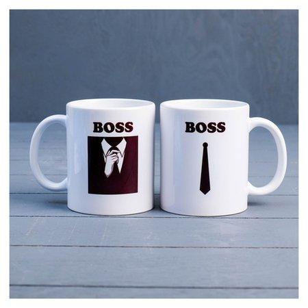 """Кружка """"Boss"""", C нанесением  Дарим красиво"""