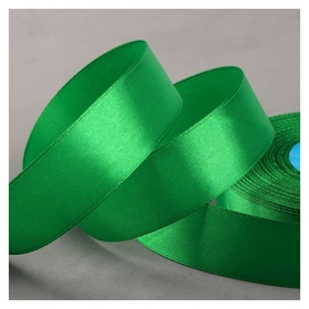 Лента атласная, 25 мм × 33 ± 2 м, цвет зелёный №019  Гамма