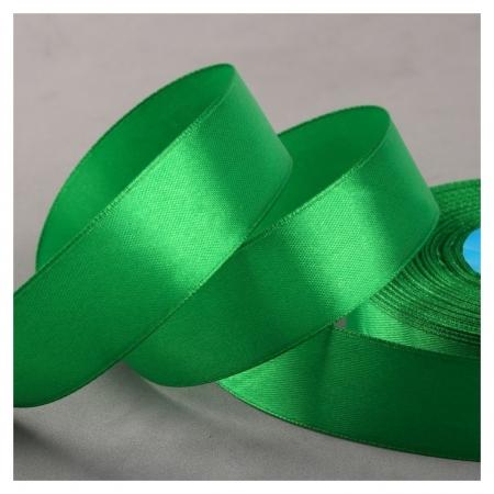Лента атласная, 25 мм × 33 ± 2 м, цвет зелёный №019  Gamma