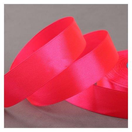 Лента атласная, 25 мм × 33 ± 2 м, цвет ярко-розовый №014  Gamma