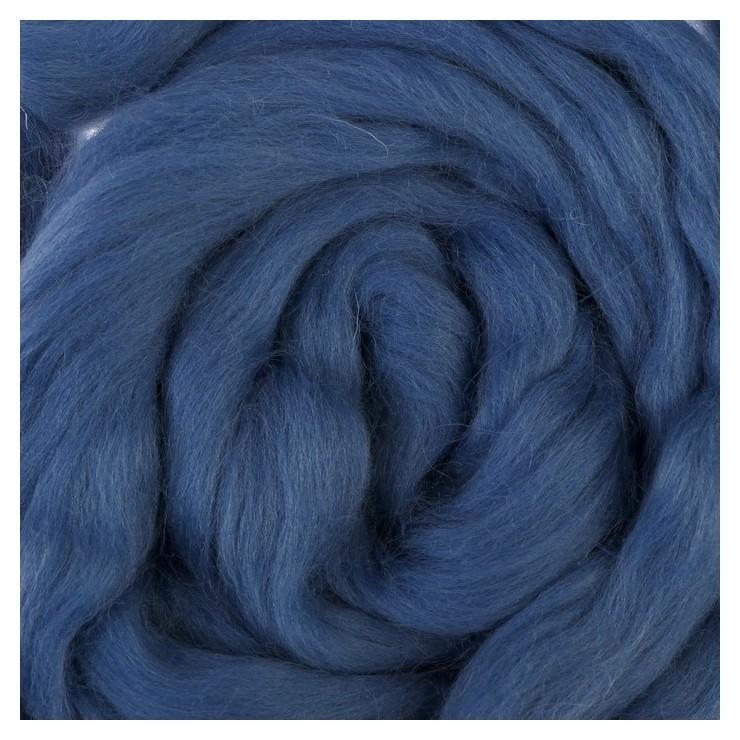 Шерсть для валяния полутонкая (022, джинса), 50 г  Камтекс