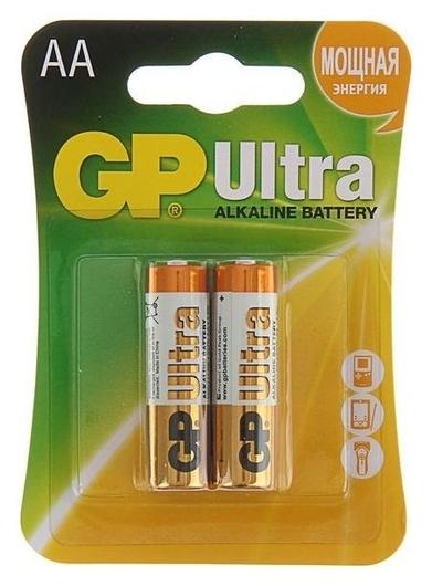 Батарейка алкалиновая GP Ultra, AA, Lr6-2bl, 1.5в, блистер, 2 шт.  GР