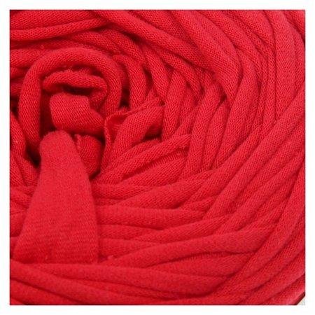 Пряжа трикотажная широкая 50м/170гр, ширина нити 7-8 мм (150 красный мак)  Елена и Ко