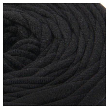 Пряжа трикотажная широкая 50м/170гр, ширина нити 7-8 мм (190 черный)  Елена и Ко