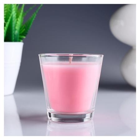 Свеча ароматизированная в стакане Роза  Омский свечной завод
