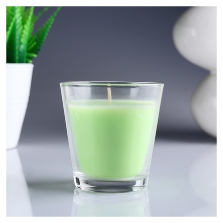 Свеча ароматизированная в стакане Яблоко  Омский свечной завод