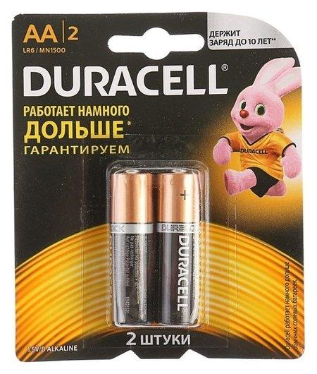 Батарейка алкалиновая Duracell, АА, Lr6-2bl, блистер, 2 шт.  Duracell