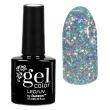 Гель-лак для ногтей трёхфазный Искрящийся бриллиант Gel Color Led uv Тон 001 Серебряный