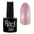 Гель-лак для ногтей трёхфазный Горный хрусталь Gel Color Led uv Тон 002 Розовый