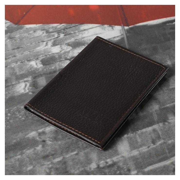 Обложка для автодокументов, цвет коричневый  Cayman