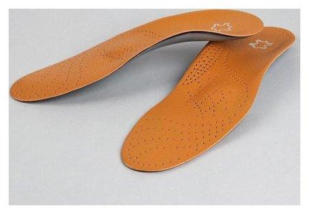 Стельки для обуви, амортизирующие, 37-38 р-р, пара, цвет коричневый  Onlitop