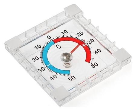 Термометр механический, уличный, квадратный, 8 × 8 см  LuazON