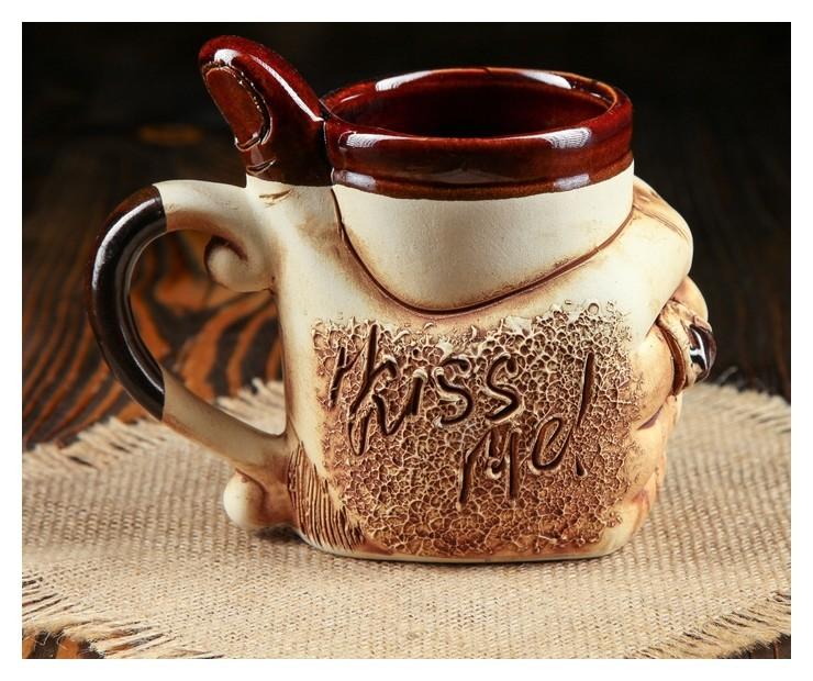 """Кружка для пива """"Класс"""" 0,5 л  Керамика ручной работы"""